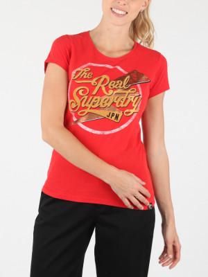 Tričko Superdry The Real Sparkle Entry Tee Červená