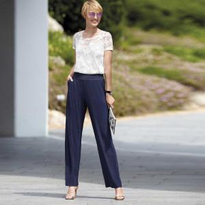 Dámské kalhoty Loo Fronce 1025095 - Janira tm.modrá