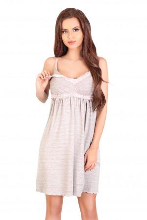 Dámská noční košile 3040 - LupoLine šedo-růžová