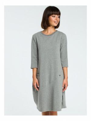 Dámské šaty B083 - BEwear šedá 2XL