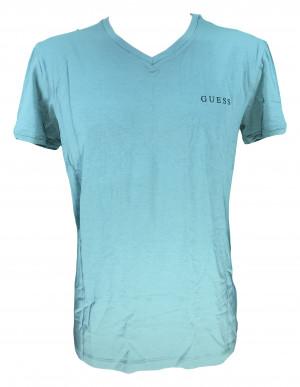 Pánské tričko U92M07JR041 smaragdová - Guess smaragdová
