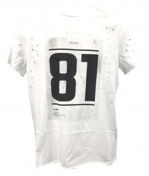 Pánské tričko U92A05JR03D - Guess bílá