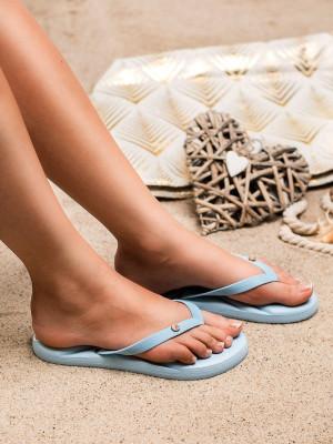 Jedinečné  nazouváky modré dámské bez podpatku