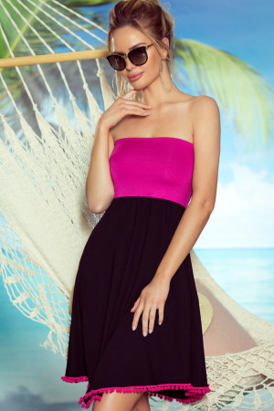 Plážová tunika Sandy pink růžová S/M