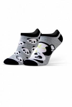 Sesto Senso Finest Cotton Duo Panda Ťapky 41-43 šedo-bílá