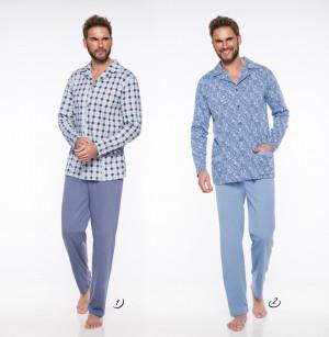 Pánské pyžamo - dlouhé 1009 GRACJAN 2XL-3XL 2019-2020 J