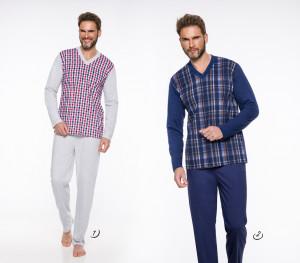 Pánské pyžamo - dlouhé 004 ROMAN 2XL-3XL 2019-2020 J