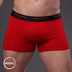 Pánské boxerky JOLIDON Silk Touch Red červená