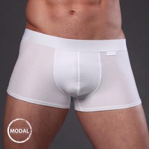 Pánské boxerky JOLIDON Jacquard Blanc bílá