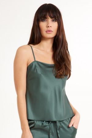 Dámská saténová košilka na spaní Secret Delight zelená