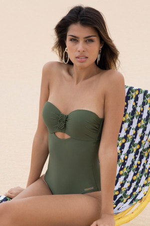 Dámské jednodílné plavky Elvira zelená 38-B