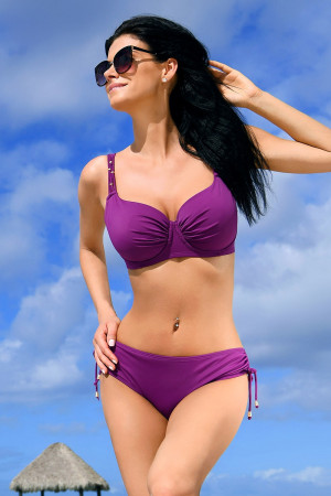 Dámské dvoudílné plavky Jimbaran purple fialová 70/D