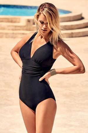 Formující italské jednodílné plavky Veronica černá