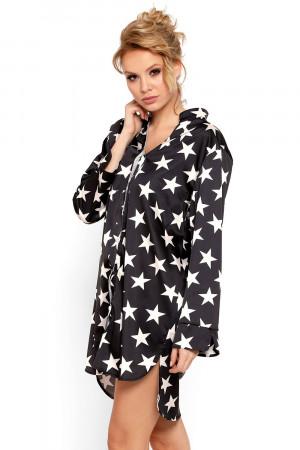 Luxusní saténová košilka Stars černá