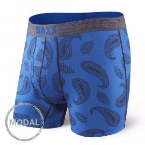 Pánské boxerky SAXX Platinum Paisley Blue tmavěmodrá