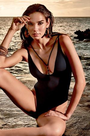 Dámské jednodílné plavky Claudia černá