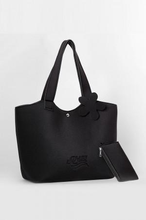Plážová taška Lady Etna černá černá uni