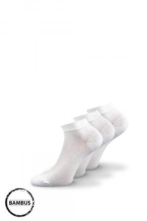 3 pack bambusových ponožek Desi bílé bílá 43-46
