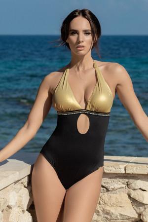 Dámské jednodílné plavky Olympia černozlatá