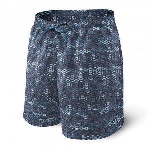 Pánské koupací šortky SAXX Blue Waterfall modrá