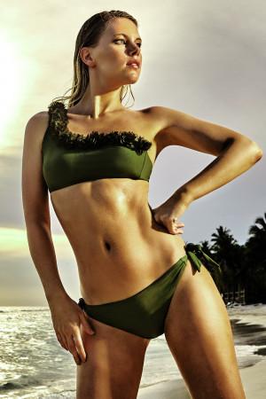 Dámské dvoudílné plavky Miranda khaki