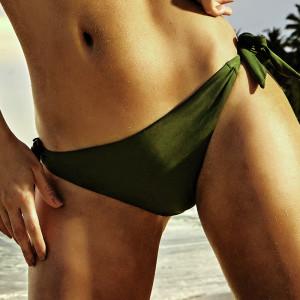 Spodní díl dámských plavek Miranda khaki