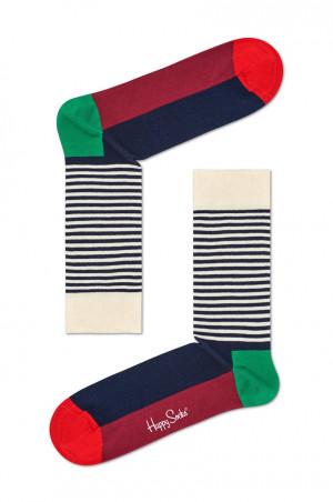 Happy Socks - Ponožky Half Stripe Christmas