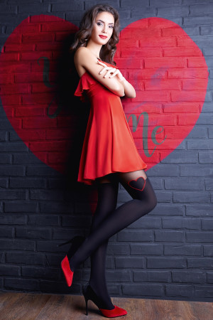 Punčochové kalhoty Enjoy Love černá