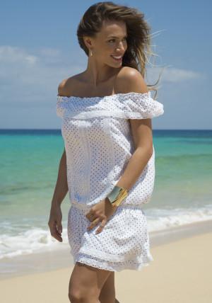 Dámské plážové šaty Ysabelmora 85504 L Bílá