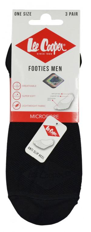 Pánské ponožky mokasíny M-F 3-P LEE COOPER černá UNI (40-46)