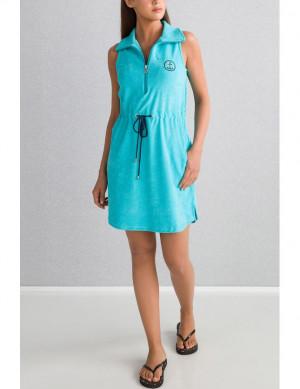 Dámské plážové šaty 00-10-6109 - Vamp tyrkysová