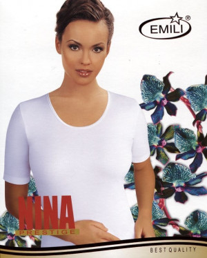 Dámská košilka Emili Nina bílá 3XL