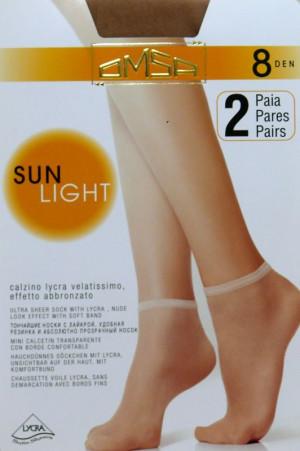Dámské ponožky Omsa| Sun Light 8 den A`2 odstín béžové univerzální