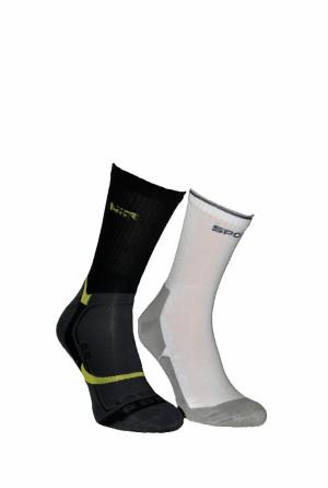 Pánské ponožky Bratex Active Sport-frota 167 tmavá-mix vzorů 39-41
