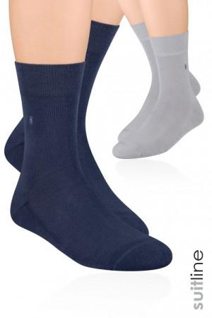 Pánské ponožky Steven polofroté art.003 hnědá 39-41