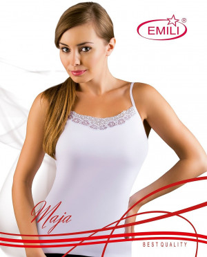 Černá dámská košilka Emili Maja S-XL černá