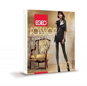 Dámské punčochové kalhoty Egeo Passion Microfibra Termo Comfort 100 den 2-4 antracit/odstín šedé 4-L