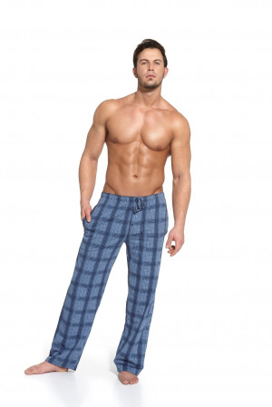 Pánské pyžamové kalhoty Cornette 691 mix šedá-tyrkysová