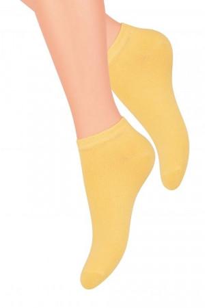 Hladké dámské ponožky Steven art.052 amarant 38-40