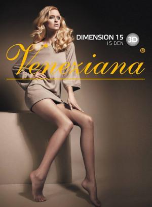 Dámské punčochové kalhoty Veneziana Dimension 15 den 2-4 černá 2-S