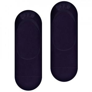 Pánské bambusové ponožky se silikonem 036 černá 44-46