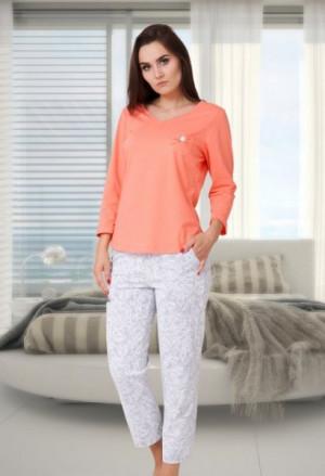 M-Max Karen 581 Dámské pyžamo S oranžová