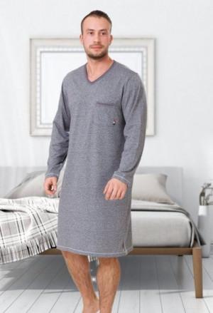 M-Max Baltazar 610 Pánské pyžamo M tmavě modrá/melanž