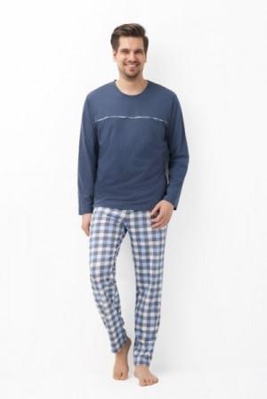 Luna 759 Pánské pyžamo XXL grafitová (tmavě šedá)