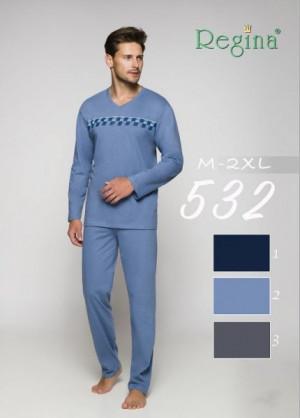 Regina 532 A Pánské pyžamo XXL šedá