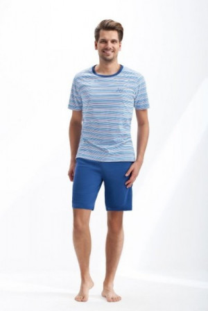 Luna 766 Pánské pyžamo XL modrá