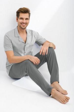 Luna 770 Pánské pyžamo XL šedá