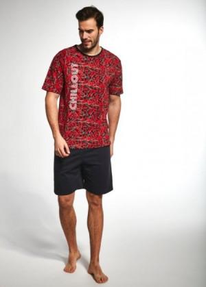 Cornette 324/77 Chillqut Pánské pyžamo XL červená