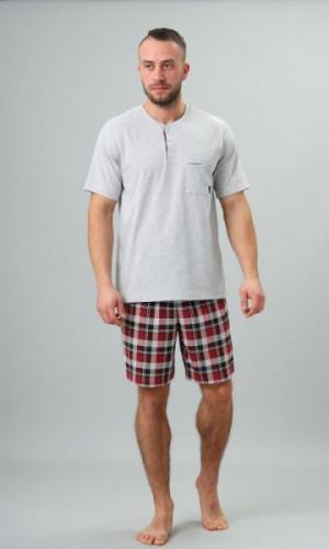 M-Max Dorian 704 Pánské pyžamo XL grafitová (tmavě šedá)