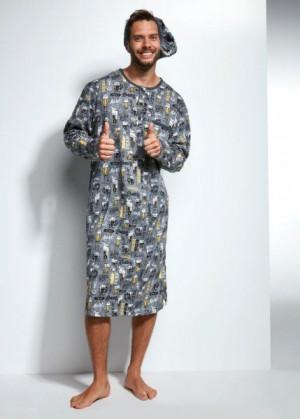 Cornette 110/635601 Pánské pyžamo XL grafitová (tmavě šedá)